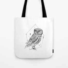 Geometric Season1:9 Owl Tote Bag