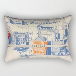 Nuremberg U-Bahn Memories - Rathaus Rectangular Pillow