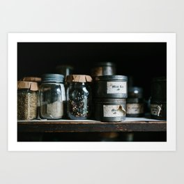 Vintage Pantry & Spices Art Print