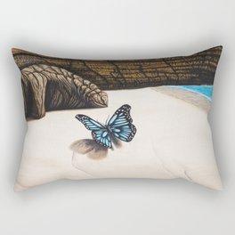 Le papillon de l'amour bleu azur Rectangular Pillow