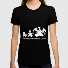 The Theory of Evolution  Womens Fitted Tee Black SMALL