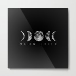 Moon Child Moon Phases Metal Print