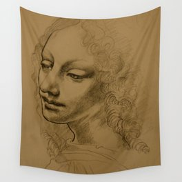 Da Vinci Inspired Drawing Wall Tapestry