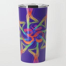 Yoga Flower, Yoga Art Travel Mug
