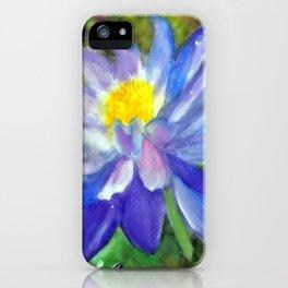 Blue Violet Lotus flower iPhone Case