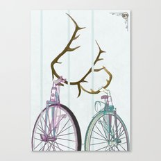 Bicycles in Love Canvas Print