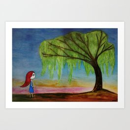 O willow, why do you weep? Art Print