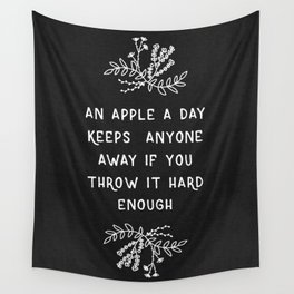 An Apple A Day BW Wall Tapestry
