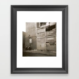 Montreal Street with Holga Framed Art Print
