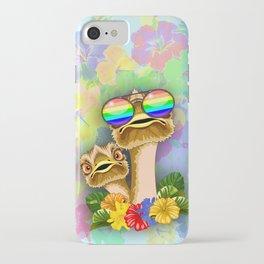Ostrich Hawaii Fashion Funny Dudes iPhone Case