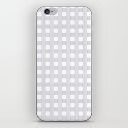 Light Grey Wood Lattice iPhone Skin