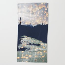 Make a wish -Yoho National park Beach Towel