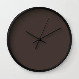 Chocolate Brown Wall Clock