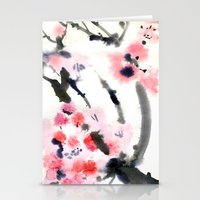 sakura Stationery Cards featuring Sakura by Nina