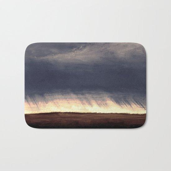Storm Over Saskatchewan Fields Bath Mat