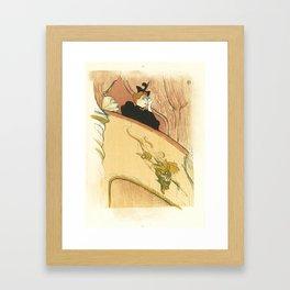 """Henri de Toulouse-Lautrec """"La loge au mascaron doré (Box with the Gilded Mask)"""" Framed Art Print"""