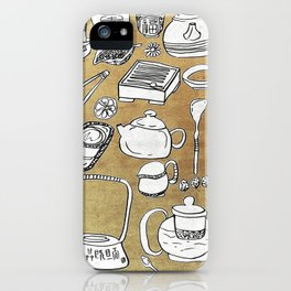Chinese Tea Doodle 1 iPhone Case