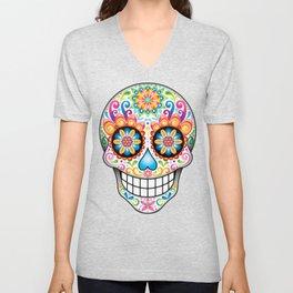 Sugar Skull Art (Jubilee) Unisex V-Neck