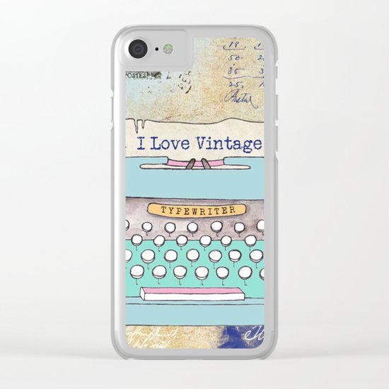 Typewriter #3 Clear iPhone Case