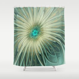 Emotions of a Flower, Abstract Fractal Art Shower Curtain