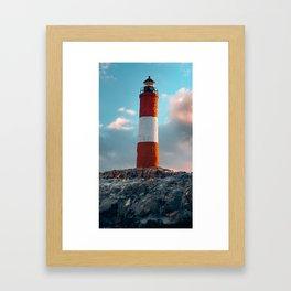 Faro del Fin del Mundo (Faro Les Eclaireurs) III Framed Art Print