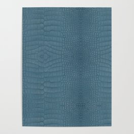 Turquoise Alligator Leather Print Poster