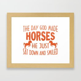 GOD MADE HORSES Framed Art Print