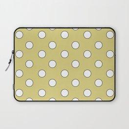Yellow Pastel Polka Dots Laptop Sleeve