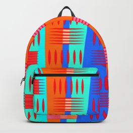 Multi Colored Geometric Forms Backpack