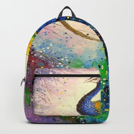 Gorgeous peacock Backpack
