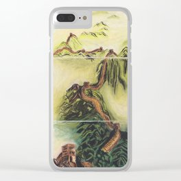 Great Wall Triptych Clear iPhone Case