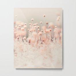 Pink Angel (two) - Pastel Minimal Flower photography by Ingrid Beddoes Metal Print