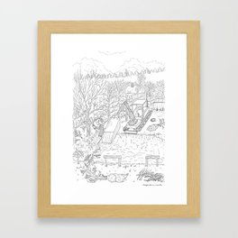 beegarden.works 013 Framed Art Print