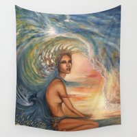 siren Wall Tapestries featuring Siren by Erica Wexler