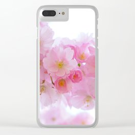 Pink Japanese Cherry Tree Blossom Clear iPhone Case