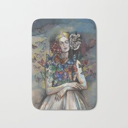 Butterfly Woman. Bath Mat
