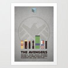 The Avengers - minimal poster Art Print