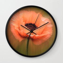 Soft Pink Poppy Wall Clock