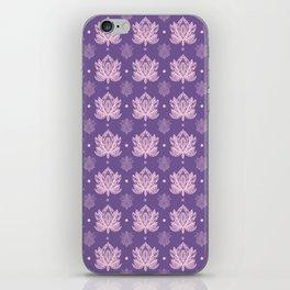 Gentle Pastel Pink  Lotus Flower Pattern iPhone Skin