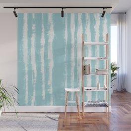 Shibori Stripe Seafoam Wall Mural