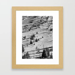 Snowy winter in the mountains Framed Art Print