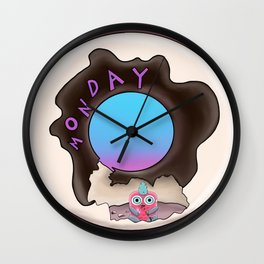 wondrous & Whimzical Places: Monday Snacks Wall Clock