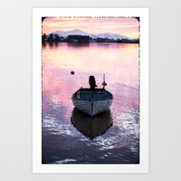 boat Art Prints featuring Boat by Dora Birgis