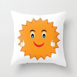 Wish You Luck Sun - Morning Vibes - Fresh & Fun - Pop Style Throw Pillow