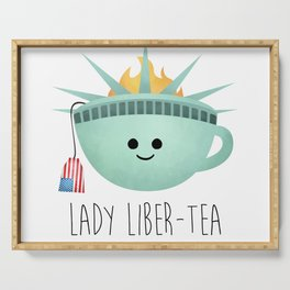 Lady Liber-tea Serving Tray