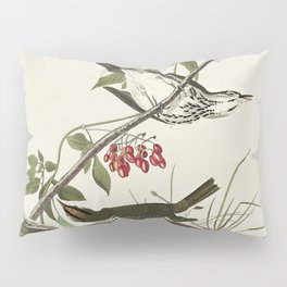 Golden-crowned Thrush from Birds of America (1827) by John James Audubon etched by William Home Liza Pillow Sham