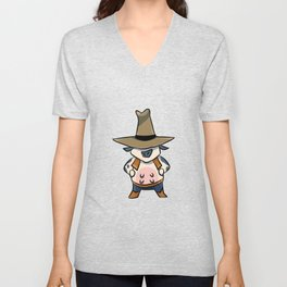 Cow beef cattle cowboy Western Sheriff kid gift Unisex V-Neck