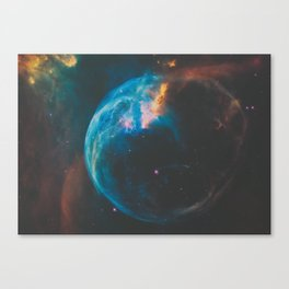 Bubble Nebula Space Canvas Print