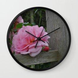 Trellis Rose Wall Clock