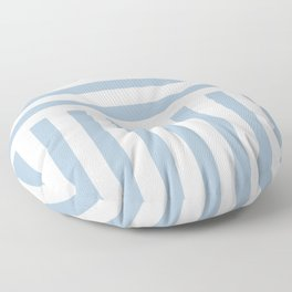 Powder Blue Direct Stripe Floor Pillow